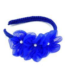 Magic Needles Handmade Flower shape Applique Hairband - Dark blue