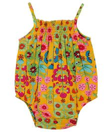 My Lil Lambs Ethnic Print Onesie - Yellow