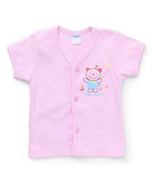 Tango Half Sleeves Vests Star Baby Print - Pink