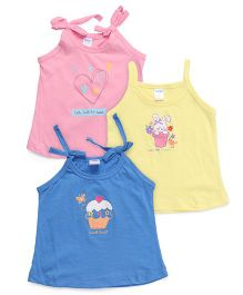 Tango Singlet Slips Pack of 3 - Pink Yellow Blue