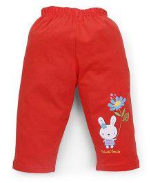 Tango Full Length Leggings Bunny Print - Red