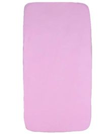 Blooming Buds Plain Fitted Cot Bed Sheet - Pink