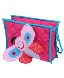 Blooming Buds Butterfly Printed Toiletry Kit - Pink