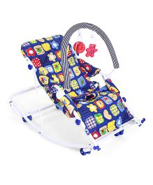 New Natraj Rocko Swing Multiprint - Blue