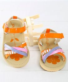 Pugs Lilly Printed Criss Cross Sandals - Orange