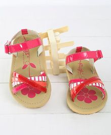 Pugs Lilly Printed Criss Cross Sandals - Pink