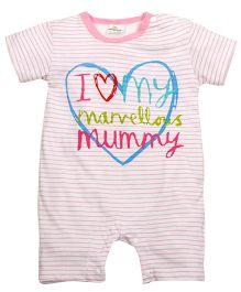 Lil Mantra I Love My Mummy Message Print Romper - Pink