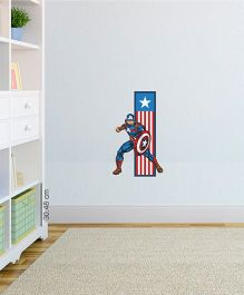 Marvel Captain America Flag Wall Decal - Red Blue by L'Orange