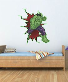 Marvel Avengers Hulk Glowing Wall Decal - Green by L'Orange