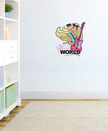 Barbie Wall Decor Its A Girls World - Green And Pink by L'Orange