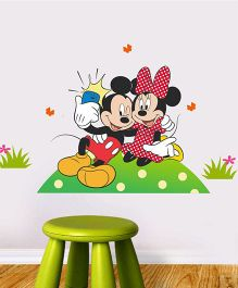 Mickey And Minnie Wall Decal - Red And Pink  by L'Orange