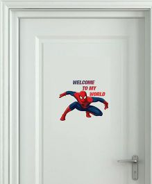 Marvel Spiderman Welcome To My World Wall Decal Small - Red Blue by L'Orange