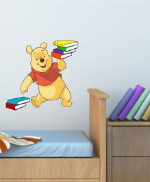 Disney Winnie The Pooh With Books Wall Decal Small- Yellow by L'Orange