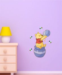 Disney Winnie The Pooh And Honey Jar Wall Decal Small - Yellow by L'Orange