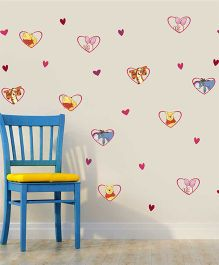 Disney Winnie The Pooh & Friends In Heart Frames Wall Decals Large - Multi Color by L'Orange