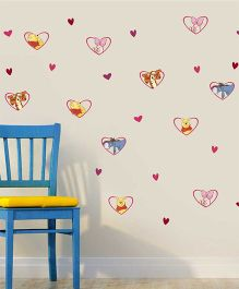 Disney Winnie The Pooh & Friends In Heart Frames Wall Decals Medium - Multi Color by L'Orange