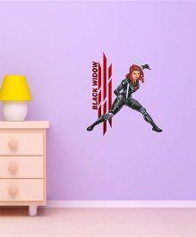Marvel Black Widow Wall Decal Small - Black by L'Orange