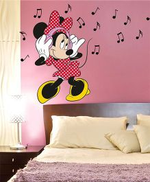 Disney Minnie Loves Music Wall Decal Large - Red by L'Orange