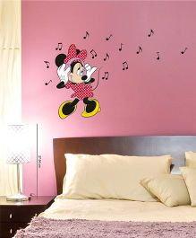 Disney Minnie Loves Music Wall Decal Small - Red by L'Orange