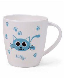Cello Homeware Joycee Kitty Embossed Mug White and Blue - 200 ml