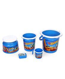 Hot Wheels Bucket Set Of 5 - Blue