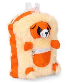 IR School Bag Fur Panda -  Orange and Cream
