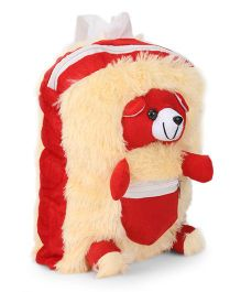 IR School Bag Fur Teddy - Red