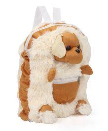 IR School Bag Fur Dog Cream & Brown - Height 12 inch