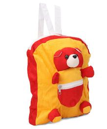 IR Activity Bag Teddy Bear Applique Red Yellow - Height 12 inch