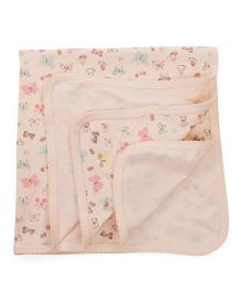 Zero Wrapper Butterfly Print - Cream