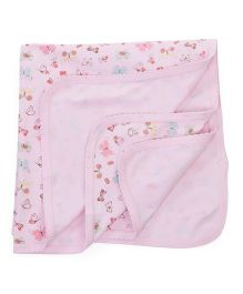 Zero Wrapper Butterfly Print - Light Pink