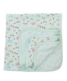 Zero Wrapper Butterfly Print - Sea Green