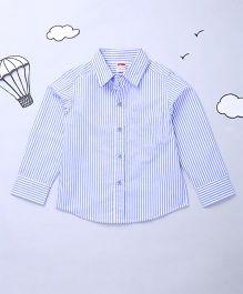 Hugsntugs Striped Print Boys Shirt - Blue