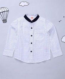 Hugsntugs Full Sleeves Boys Shirt - White