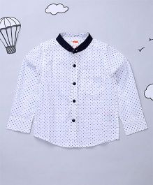 Hugsntugs Full Sleeves Boys Shirt - White