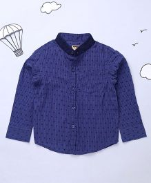 Hugsntugs Full Sleeves Stripe Shirt - Navy
