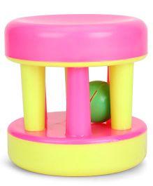 Venus Baby Roller Rattle - Pink & Yellow