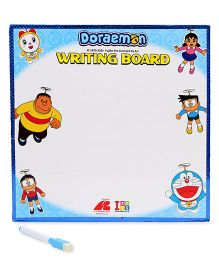 Doraemon 2 In 1 Writing Board & Game Board - White And Blue