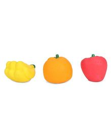 Ratnas Squeaky Bath Toys Fruits Pack Of 3 - Red Yellow Orange
