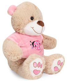 Starwalk Teddy Bear Soft Toy Beige Pink - 25 cm