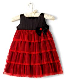 Nitallys Empire Layered Dress - Red & Black