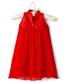 Nitallys Sequin Party Wear Dress - Red