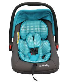 Sunbaby Canopied Carry Cot Cum Car Seat - Sky Blue