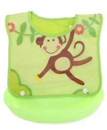 Adore Baby Bib With Spill Catcher (Color And Print May Vary)