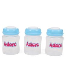 Adore Milk Storage Bottles Blue - 3 Pieces