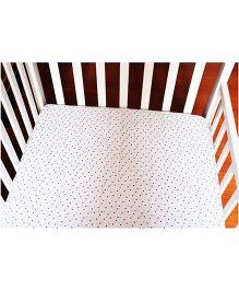 BumChum Organic Muslin Flat Sheet Polka Dots - White & Pink