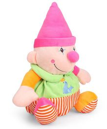 Starwalk Clown Plush In Pink Cap Soft Toy - 30 cm