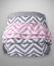Bumchum Hybrid Cloth Diaper Cover & One Washable Insert Medium Elsie - Grey
