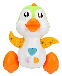 Mee Mee Playful Musical Penguin Toy - White & Orange