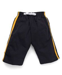 Ollypop Track Shorts - Charcoal Grey & Yellow